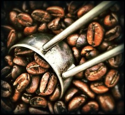 caffeine and coffee beans