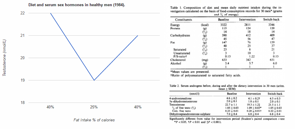 different types of fatty acids and serum testosterone levels