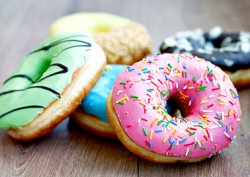 different color donuts