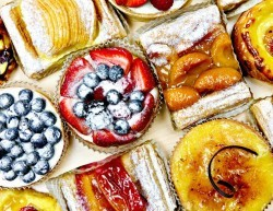 sugary cakes and pastry