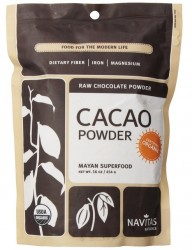 raw cacao powder helps boost nitric oxide and drop blood pressure