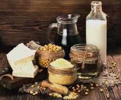 Soy products are food that decrease testosterone levels
