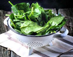 spinach is very high in natural magnesium