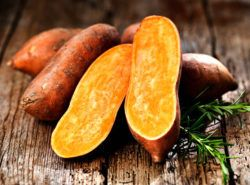 sweet potatoes are high in carotenoid form of vitamin a