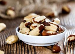 Brazil nuts are a food high in vitamin e
