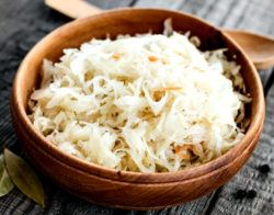 sauerkraut food is rich in nautral probiotic bacteria