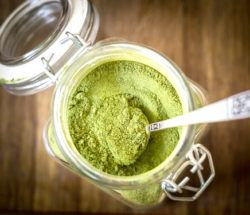moringa powder in a jar